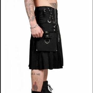 Men Size Medium Tripp Kilt Black W 32 x L 22